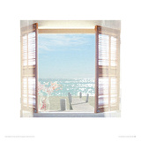 View Through Shutters Giclee Print by Malcolm Sanders