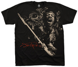 Jimi Hendrix- Scream Freedom Camisetas