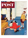 """Missing Shoe"" Saturday Evening Post Cover, September 8, 1951 Giclee Print by Jack Welch"