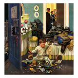 """Toddler Empties Purses"", November 22, 1952 Giclee Print by Stevan Dohanos"
