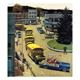 &quot;Glenville High Boosters&quot;, October 31, 1959 Giclee Print by Ben Kimberly Prins