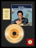 "Elvis Presley - ""Kentucky Rain"" Gold Record Framed Memorabilia"