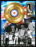 "The Who - ""Discography"" Gold LP Framed Memorabilia"
