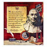 """Benjamin Franklin - Bust and Quote"", January 17, 1959 Giclee Print by Stanley Meltzoff"