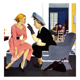 """Gossiping Neighbor"", May 12, 1951 Giclee Print by George Hughes"