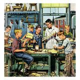 """Shop Class"", March 19, 1955 Giclee Print by Stevan Dohanos"