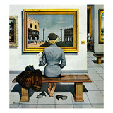 """Art Lover"", March 3, 1956 Giclee Print by Stevan Dohanos"