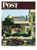 """Backyard Wedding"" Saturday Evening Post Cover, June 24, 1950 Giclee Print by John Falter"