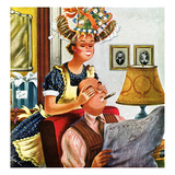 """New Hat"", April 8, 1950 Giclee Print by Constantin Alajalov"
