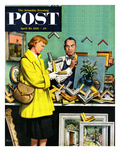 """Frame-Up"" Saturday Evening Post Cover, April 30, 1955 Giclee Print by Stevan Dohanos"