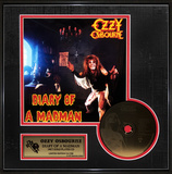 Ozzy Osburne - Diary of a Madman Gold CD Framed Memorabilia