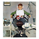 """In the Dentist's Chair"", October 19, 1957 Reproduction procédé giclée par Kurt Ard"