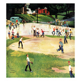 """Sandlot Homerun"", July 6, 1957 Giclee Print by John Falter"