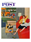"""Morning Coffee Break"" Saturday Evening Post Cover, September 12, 1959 Giclee Print by Amos Sewell"