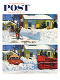 """Plowed-Over Driveway"" Saturday Evening Post Cover, December 18, 1954 Giclee Print by Earl Mayan"