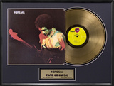 "Jimi Hendrix - ""Band Of Gypsys"" Gold LP Framed Memorabilia"