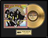 "KISS - ""Hotter Than Hell"" Gold LP Framed Memorabilia"