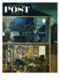 """Different Interests"" Saturday Evening Post Cover, May 8, 1954 Giclee Print by Constantin Alajalov"