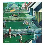 """Spring Yardwork"", May 18, 1957 Giclee Print by Thornton Utz"