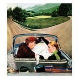 &quot;Fork in the Road&quot;, July 7, 1956 Giclee Print by George Hughes