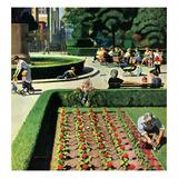 """""""City Park"""", June 5, 1954 Reproduction procédé giclée par John Falter"""
