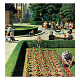 """City Park"", June 5, 1954 Giclee Print by John Falter"