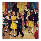 """Dance Cotillion"", April 28, 1951 Giclee Print by Amos Sewell"