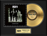 "KISS - ""Dressed To Kill"" Gold LP Framed Memorabilia"
