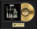 "KISS - ""Dressed To Kill"" Gold LP 額入りメモラビリア"