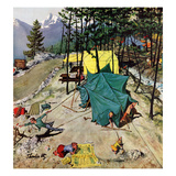 """Making Camp"", July 19, 1958 Gicléetryck av Thornton Utz"