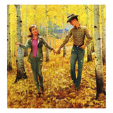 """Walk in the Forest"", October 18, 1952 Giclee Print by John Clymer"