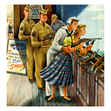 """Shooting Gallery"", September 12, 1953 Giclee Print by Constantin Alajalov"