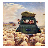 """Oregon or Bust"", August 4, 1951 Impression giclée par John Clymer"