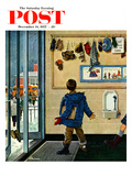 &quot;Lost His Mitten&quot; Saturday Evening Post Cover, December 14, 1957 Giclee Print by Ben Kimberly Prins