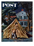 """""""Backyard Campers"""" Saturday Evening Post Cover, September 5, 1953 Giclee Print by Amos Sewell"""