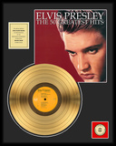 "Elvis Presley - ""The 50 Greatest Hits"" Gold LP Framed Memorabilia"