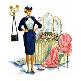 """Trying on the Old Uniform"", May 31, 1958 Giclee Print by Constantin Alajalov"