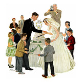 """Cutting the Cake"", May 17, 1958 Giclee Print by Ben Kimberly Prins"