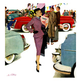 """Woman in Showroom"", January 5, 1952 Giclee Print by M. Coburn Whitmore"