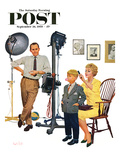 """At the Photographer"" Saturday Evening Post Cover, September 26, 1959 Reproduction procédé giclée par Kurt Ard"