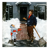 """More Snow"", December 29, 1951 Giclee Print by George Hughes"