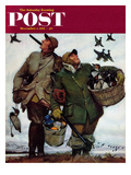 """Nothing but Decoys"" Saturday Evening Post Cover, December 1, 1951 Gicleetryck av Mead Schaeffer"