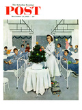 """Children's Ward at Christmas"" Saturday Evening Post Cover, December 25, 1954 Giclee Print by George Hughes"