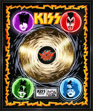 "KISS - ""Sonic Boom"" Gold LP Framed Memorabilia"
