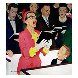 """Singing Praise"", March 7, 1959 Giclée-tryk af Richard Sargent"