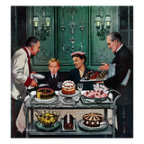 """Dessert Cart"", January 1, 1955 Giclee Print by Stevan Dohanos"