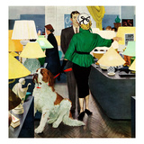 """St. Bernard in Lamp Shop"", October 25, 1952 Giclee Print by George Hughes"