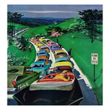 """Resume Safe Speed"", May 30, 1959 Reproduction procédé giclée par Thornton Utz"