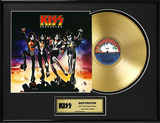 "KISS - ""Destroyer"" Gold LP Framed Memorabilia"