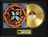 "KISS - ""Rock And Roll Over"" Gold LP Framed Memorabilia"